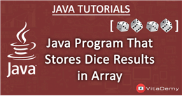 Java Program That Stores Dice Results in Array