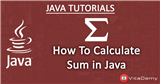 Calculate Sum in Java