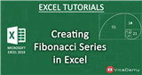 Calculating Fibonacci Series in Microsoft Excel