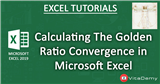 Calculating The Golden Ratio Convergence in Microsoft Excel