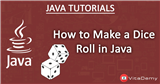 How to Make a Dice Roll in Java?