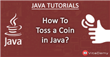 Java Program to Toss a Coin