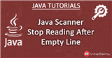 Java Stop Reading After Empty Line