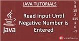 Read input Until Negative Number is Entered